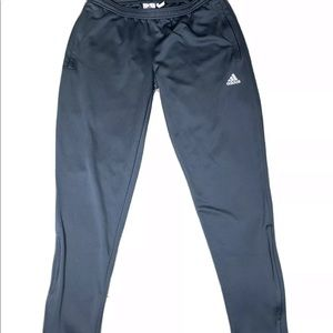 Adidas climalite athletic pants gray size large